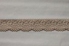 画像7: 30m!幅2.8cm小花柄ラッセルストレッチレース 上品なベージュ (7)