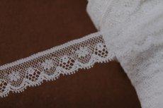画像2: 1m!幅1.6cm小花柄フランス製リバーレース ホワイト (2)