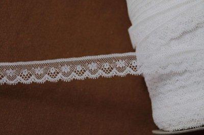 画像2: 1m!幅1.6cm小花柄フランス製リバーレース ホワイト
