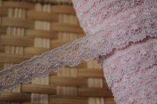 画像5: 高品質な日本製!3m!幅1.6cm綺麗な花柄ラッセストレッチレース 可愛いピンク (5)