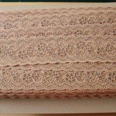 画像2: 5m!幅5.8cm薔薇柄ラッセルストレッチレース ベージュブラウン高品質な日本製 (2)