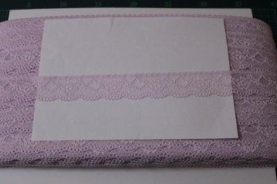 画像3: ラッセルストレッチレース さわやかパープル 3m!幅3cm綺麗な薔薇柄