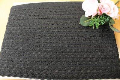 画像3: ラッセルレース ブラック 幅1.3cm小花柄 5m巻
