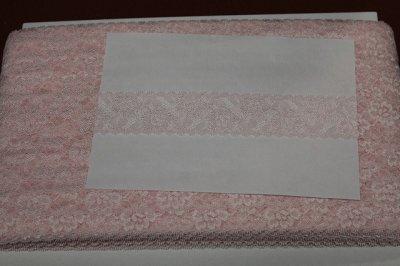 画像3: 高品質な日本製127m!幅4.2m花柄ラッセルストレッチレース ピンク