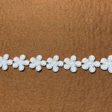 画像2: 3m!幅2cm小花柄綿ケミカルレース オフホワイト (2)