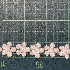 画像4: 3m!幅2cm小花柄綿ケミカルレース オフホワイト (4)