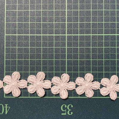 画像1: 3m!幅2cm小花柄綿ケミカルレース オフホワイト