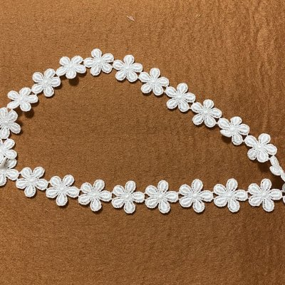 画像3: 3m!幅2cm小花柄綿ケミカルレース オフホワイト