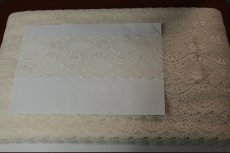 画像6: 5m!幅7.4cm小花柄ラッセルストレッチレース ベージュ 日本製 (6)