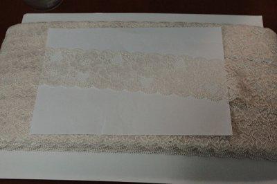 画像3: 高品質な日本製5m!幅5.8cm美しい薔薇柄ラッセルストレッチレース ピーチ