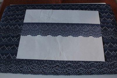 画像3: 高品質な日本製132m!幅4.2cm美しいラッセルストレッチレース ネイビー