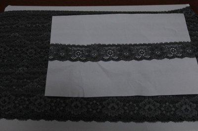 画像3: 90m!幅3.1m薔薇柄ラッセルストレッチレース 黒 高品質な日本製