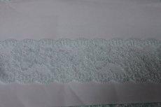 画像4: 5m!幅6cm美しい薔薇柄ラッセルストレッチレース ブルー高品質な日本製 (4)