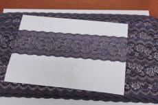 画像6: 5m!幅5.8cm薔薇柄ラッセルストレッチレース 紫高品質な日本製 (6)