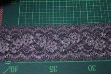 画像3: 5m!幅5.8cm薔薇柄ラッセルストレッチレース 紫高品質な日本製 (3)