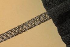 画像5: 10m!幅1.2cm美しいラッセルストレッチレース ブラック マスクゴム (5)