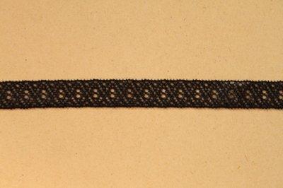 画像2: 10m!幅1.2cm美しいラッセルストレッチレース ブラック マスクゴム