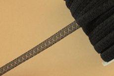 画像4: 10m!幅1.2cm美しいラッセルストレッチレース ブラック マスクゴム (4)