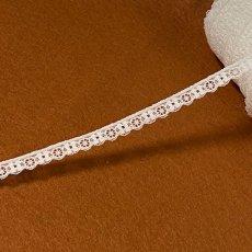 画像7: リバーストレッチレース オフホワイト 2m巻!幅1.1cm車輪と小花柄 (7)