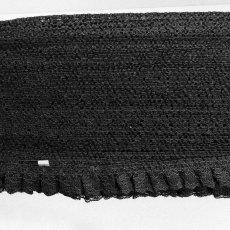 画像7: ラッセルフリルレース ブラック 5m!2.5cm小花柄 日本製 (7)