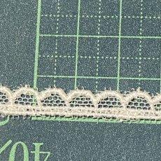 画像4: チュールレース オフホワイト スカラがキュート 幅0.6cm 3m巻 (4)