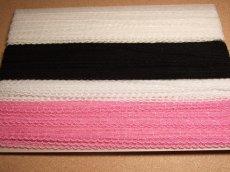 画像6: チュールレース 4色オフホワイト、白、ローズピンク、黒 幅1.6cm 6m巻! (6)