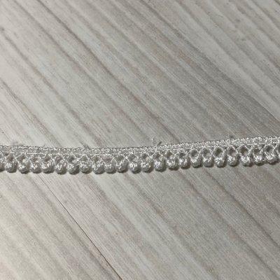 画像2: ケミカルレース オフホワイト 幅0.7cm極細なドット柄 6m巻