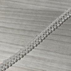 画像3: ケミカルレース オフホワイト 幅0.7cm極細なドット柄 6m巻 (3)