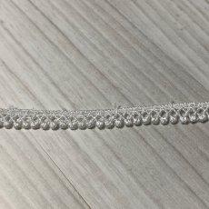 画像1: ケミカルレース オフホワイト 幅0.7cm極細なドット柄 6m巻 (1)
