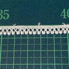 画像2: ケミカルレース オフホワイト 幅0.7cm極細なドット柄 6m巻 (2)
