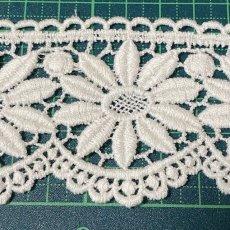 画像4: 綿ケミカルレース オフホワイト 幅5.5cm 花柄 1m (4)