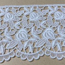 画像4: 綿ケミカルレース オフホワイト 幅8.6cm 薔薇柄 1m (4)