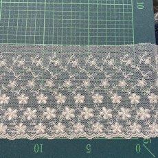 画像2: チュールレース オフホワイト 幅10.4cm小花柄 1m巻! (2)