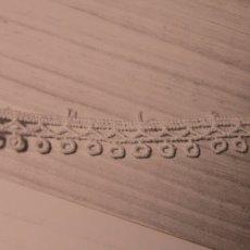 画像1: 綿ケミカルレース オフホワイト幅1cm エスニック風 3m巻 (1)