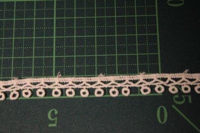 画像1: 綿ケミカルレース オフホワイト幅1cm エスニック風 3m巻