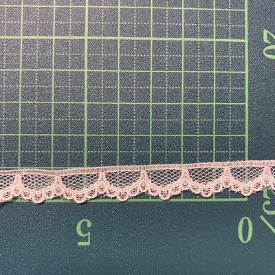 画像1: ラッセルレース オフホワイト 幅1cmスカラが可愛い  10m巻