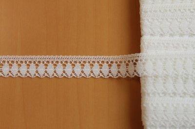 画像1: リバーレース オフホワイト 幅1.2cm 5m巻