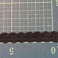 画像3: ストレッチトーションレース ブラック 幅1.2cmボタン風で可愛い 3m (3)