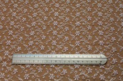 画像1: 幅90cm!1m!広幅上品な小花柄チュールレース ピンク