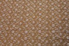 画像2: 幅90cm!1m!広幅上品な小花柄チュールレース ピンク (2)