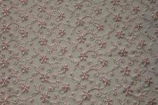 画像4: 幅90cm!1m!広幅上品な小花柄チュールレース ピンク (4)