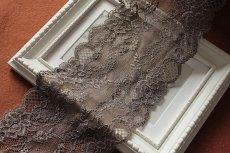 画像8: ラッセルストレッチレース  幅12.5cm 落下板薔薇柄 5m巻 (8)