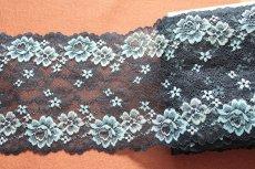画像7: ラッセルストレッチレース  幅17.7cm光沢のある薔薇柄  3m巻 (7)