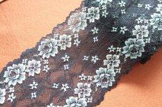 画像5: ラッセルストレッチレース  幅17.7cm光沢のある薔薇柄  3m巻 (5)
