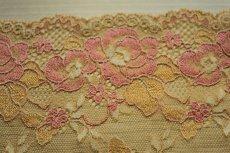 画像10: ラッセルストレッチレース 幅16.7cm 綺麗な薔薇柄  3m巻 (10)