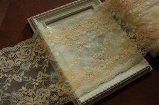 画像9: ラッセルストレッチレース 幅16.7cm 綺麗な薔薇柄  3m巻 (9)