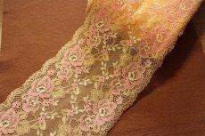 画像6: ラッセルストレッチレース 幅16.7cm 綺麗な薔薇柄  3m巻 (6)