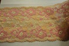 画像4: ラッセルストレッチレース 幅16.7cm 綺麗な薔薇柄  3m巻 (4)