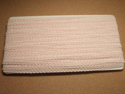 画像2: チュールレース ピンク 幅0.7cm 可愛いスカラ 3m巻