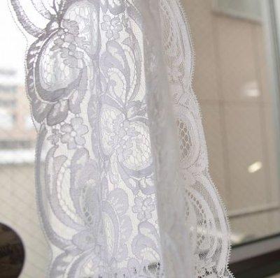 画像3: 1m!幅14.3cmフランス製リバーレース ホワイト ウエディングベールに